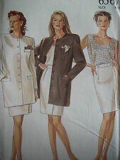 NEW LOOK #6567 - LADIES ADORABLE BUSINESS JACKET - CAMISOLE & SKIRT PATTERN 6-18