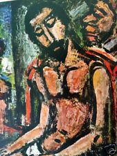 CHRIST 1952 Georges Rouault Color Tipped-In Print Expressionism 7.75x10""