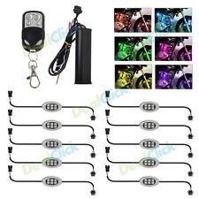 10Pods Flexible RGB Multi Color SMD 5050 LED Light Universal For Motorcycle Cars