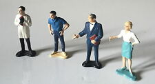 FOUR 1960s GILBERT JAMES BOND 007 FIGURES ~ CONNERY MONEYPENNY + DR NO + M