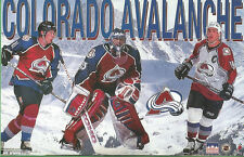 COLORADO AVALANCHE Roy Sakic Forsberg Starline Poster MINI Promo Piece 3x5