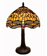 Warehouse of Tiffany Style Amber Dragonfly Table Lamp G121467B