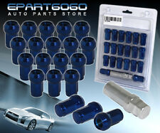 M12X1.5MM 20 PIECE CLOSE END ACORN STEEL TUNER LUG NUTS RACING BLUE ACURA