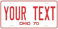 Ohio 1970 License Plate Personalized Custom Car Auto Bike Moped Motorcycle Tag