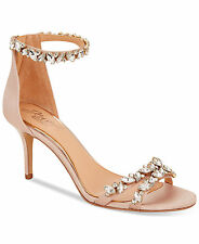 JEWEL By Badgley Mischka Caroline Ankle-Strap Evening Sandals Size 9 Champagne