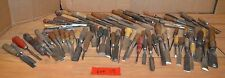 80 woodworking chisels collectible carving tools slick carving blacksmith lot
