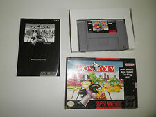 MONOPOLY COMPLETE SUPER NINTENDO SNES GAME NES HQ BOX #C