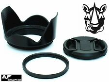 F62 Lens Hood + Cap + UV Filter for Sigma 10-20mm f/4-5.6 EX DC HSM Lens Lenses
