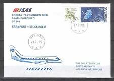 First Flight Cover J08 SAS MED 1985 Kramfors - Stockholm