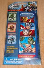 Brand New Marvel Avengers Sticker Book & Bookmark Set Iron Man Hulk Capt America