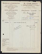 """ORLEANS (45) MATERIAUX DE CONSTRUCTION """"F. GUILLET & COURTY"""" en 1950"""