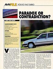 1992 Volvo 940 Turbo Original Car Review Print Article J633
