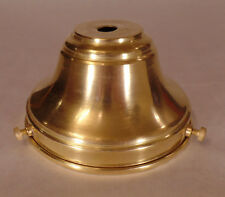"NEW Spun Unfinished Brass 4"" Fitter Fixture Shade Holder With Set Screws #SH764U"