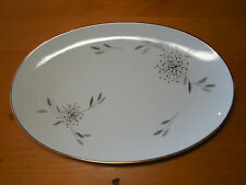 Noritake Fine China HELENE 5602 Oval Serving Platter 14 in Grey Taupe Pink