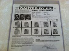 ROBERTO SOLIS aka PANCHO AGILA POET/MURDERER FBI WANTED POSTER  *MAKE OFFER*
