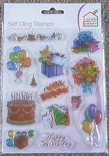 CREATE & CRAFT A5 Clear Stamps BIRTHDAY STAMP KIT Cake Balloons Gift  10910