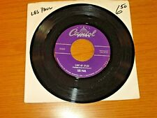 "POP HIT 45 RPM - LES PAUL - CAPITOL 2265 - ""LADY OF SPAIN"""