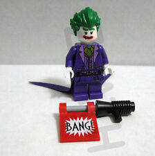 Lego Batman Movie NEW The Joker minifigure w/ bang gun 70908 Scuttler 2017 smile
