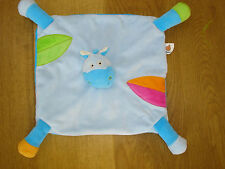 BAWI BLUE ZEBRA HORSE COW SOFT TOY COMFORTER