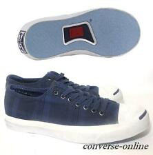 Men CONVERSE JACK PURCELL Blue White GARMENT DYE PLAID Trainers Shoes SIZE UK 11