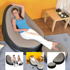 Silla De Lujo lounge tumbona Jilong Inflable Con Asiento De Pie Relax otomano taburete