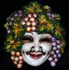 Bacchus Dionysus God of Wine Grapes Harvest Mask Wall Hanging Italy Venezia