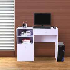 HOMCOM Computer Desk Laptop Home Office Student Wood Table Modern Study Storage
