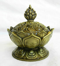 Lotus Design Brass Incense Burner / BNIB