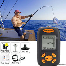 Portable Fish Finder 100M Depth Sonar Sounder Alarm Transducer Fishfinder Tools