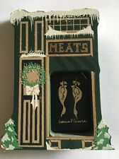 Shelia's Collectibles Wood Wooden Houses 1991 Limited Edition Meats Store Goose