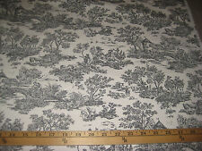 "CHARCOAL/IVORY TOILE BY MILL CREEK FABRICS 100% COTTON FABRIC 45"" W BY THE YARD"