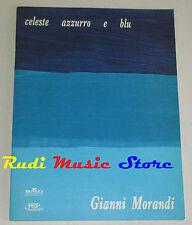 spartito GIANNI MORANDI Celeste azzurro blu 1997 BMG italy cd lp mc dvd vhs