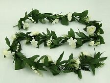 Realistic Artificial Blossom Garland, Rose, Stephanotis, Flowers, Wedding 1,7 m
