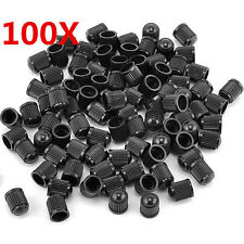100PCS Plastic Black Auto Car Bike Motorcycle Truck wheel Tire Valve Stem Caps