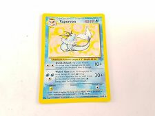 Pokemon TCG Card Jungle Set Vaporeon 12/64 Fossil Rare Holo VV