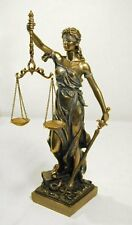 Blind Lady Justice Statue with Scales Sculpture Legal Figure 12.5-INCH