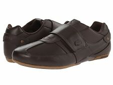 Lacoste Protected PRM SPM Mens Casual Leather Shoes US9.5/UK8.5/EUR42.5 BROWN