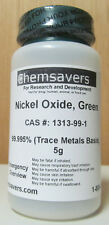Nickel Oxide, Green, 99.995% (Trace Metals Basis), Certified, 5g