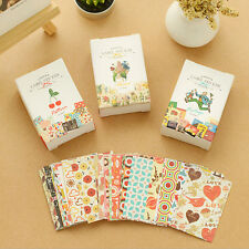 52X/box DIY Mini Cute Sticker Vintage Sticky Paper for Scrapbooking Decoration F