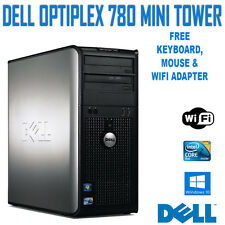 Dell OptiPlex 780 Tower Desktop PC Core 2 Duo 2.93Ghz, 4GB, 160GB, Windows 10