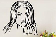 Sexy Lady Hair Haar Frisör Wandtattoo Wallpaper Wand Schmuck 56 x 56 cm Wandbild