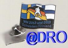 PIN + DEB + Eishockey WM 2012 / 2013 in Schweden & Finnland + #2 Flagge + NEU +