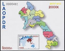 LAOS Bloc** ASEM 2012, Carte, summit in Laos, map, Souvenir Sheet MNH