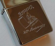 Zippo lighter logo chrome New Rare Vintage 1996 25 years old.