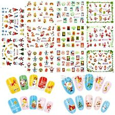 1 Big Sheet Christmas Nail Art Water Decal Transfer Sticker Xmas Nail Decoration