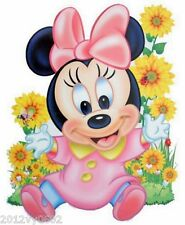 Nouveau Disney Minnie Mouse Bébé Chambre Mur Sticker Grand 85 x 53 cm