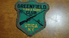 VINTAGE GREENFIELD  FISH AND GAME CLUB UTICA NEW YORK 1950'S    BX P #10