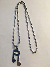 NEW SSP MUSIC NOTE PENDANT & SSP CHAIN--N55