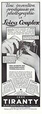 Publicité Leica Couplex appareil photo vintage print ad  1932 - 5h