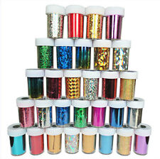 30 x NAIL FOILS WRAP TRANSFER GLITTER STICKER ART DECORATION DECAL UK SELLER